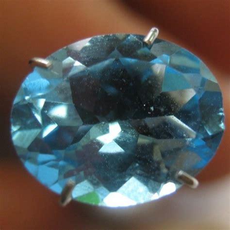 Blue Topaz 14mm Memo batu permata topaz warna swiss blue oval cut 2 59 carat