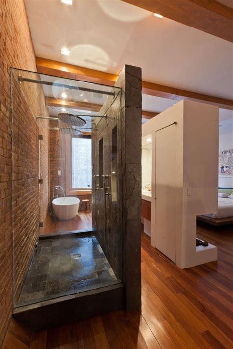 Loft Bedroom With Bathroom Apartment Modern And Simple Loft Bathroom In Bedroom
