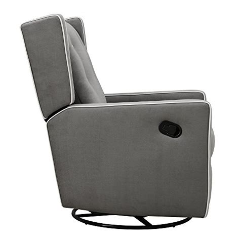 baby recliner sleeper baby relax mikayla swivel gliding recliner gray