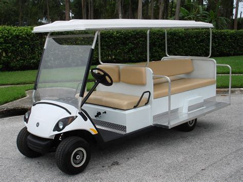 gulf car yamaha golf car shuttle multi passenger vehicles