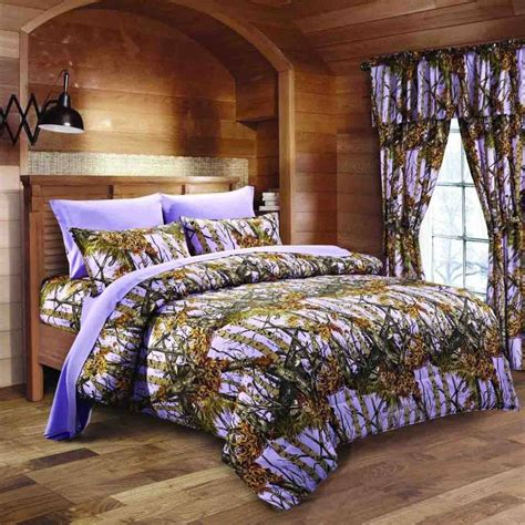 purple camo bed set lavender camo bed in a bag set the sw company
