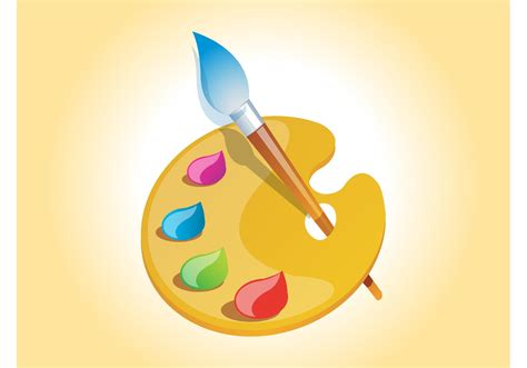 painter free painter palette vector free vector stock