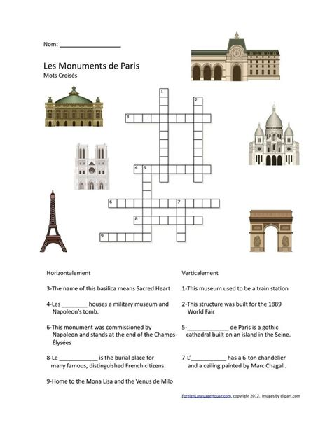 easy crossword puzzles in french st patrick s day crossword puzzle high school french