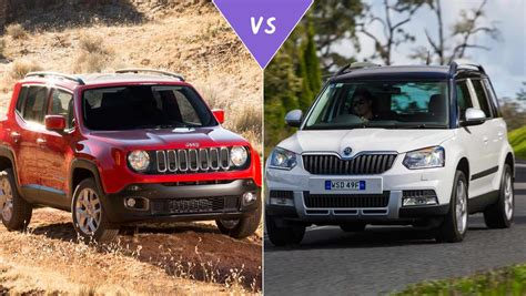 jeep skoda jeep renegade vs skoda yeti review carsguide