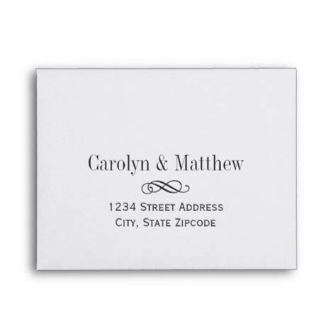 a9 greeting card envelope template wedding rsvp envelopes printed address zazzle
