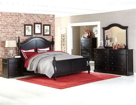 homelegance 2268bk carollen distressed black bedroom set