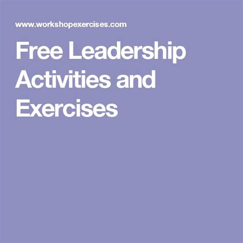 75 best images about leadership activities on