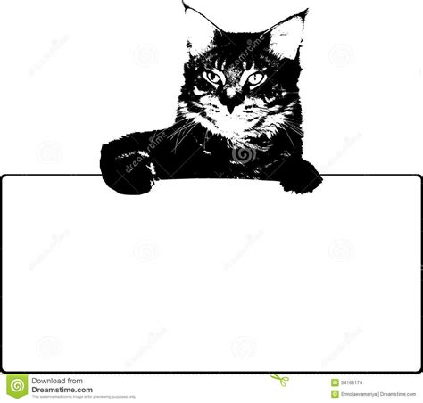cat vector wallpaper black cat with frame vector stock images image 34166174