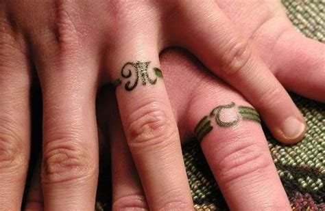 tattoo name on ring finger tattoo wedding rings the new way of exchanging of vows