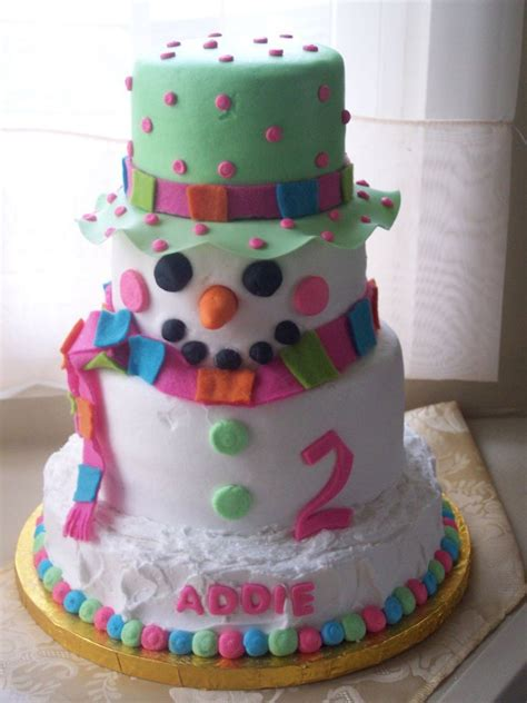 pretty snowman cake ideas for christmas pretty designs