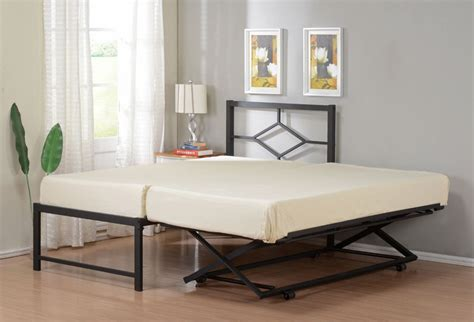 Pop Up Trundle Bed Frame Size Metal Hirise Day Bed Daybed Frame With Headboard Pop Up Trundle Daybed Metals