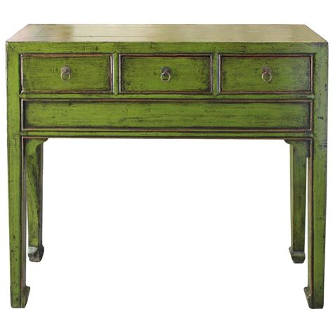 lime green console table for sale at 1stdibs