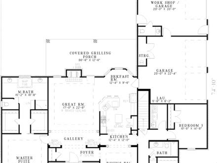 Small Ranch House Plans Ranch House Plans No Garage One Home Floor Plans Without Garage