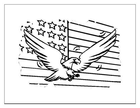 american flag and eagle fourth of july coloring page for 4th of july coloring pages american flag coloringstar