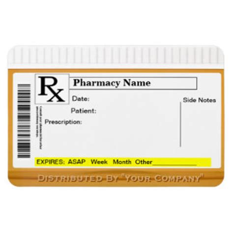 prescription labels template blank prescription label template
