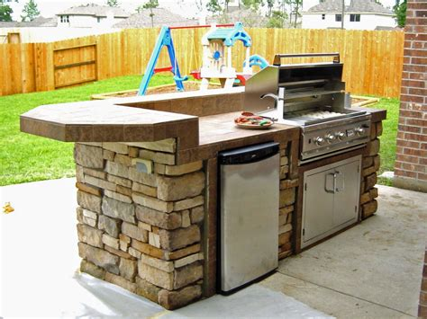 outdoor kitchen island ideas modern outdoor kitchen cabinets decoration using backless