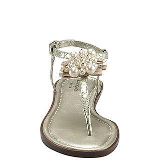 kate spade pearl sandals kate spade new york hedy platinum embellished flat