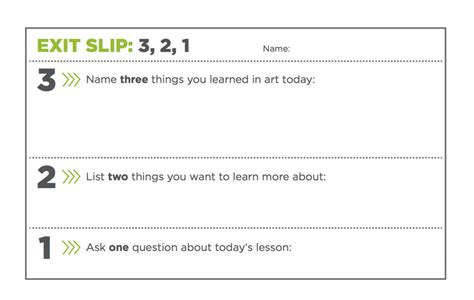 exit slip template 3 simple exit tickets to boost student comprehension the