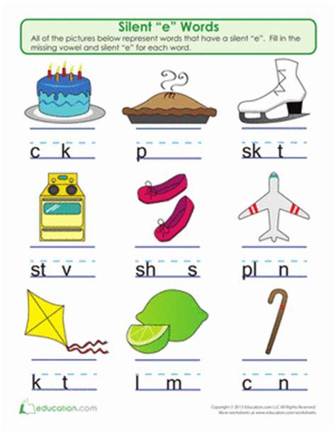 "silent ""e"" word play | worksheet | education.com"