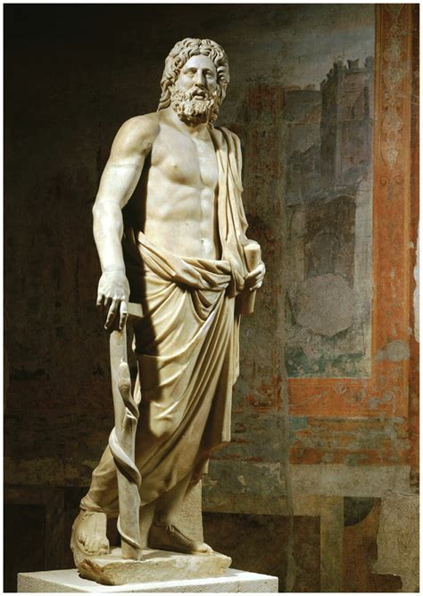 greek god statue marble statue of aesculapius the greek god of medicine