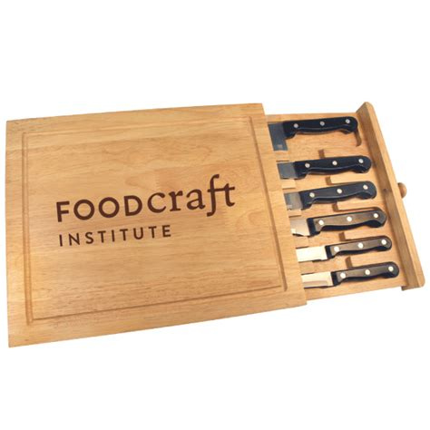 Cutting Board With Drawer by Engraved Cutting Board Drawer Cutlery Set Business Gift