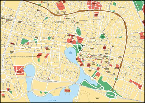 jidda map map of jeddah city maps of saudi arabia planetolog