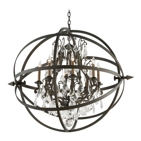 Orb Lighting Pendants Orb Chandelier Pendant Light In Vintage Bronze Finish F2998 Destination Lighting