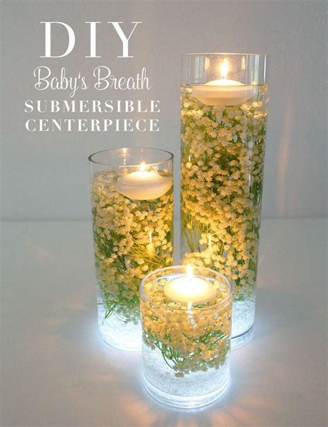 Glass Vases Centerpieces Ideas Diy Baby S Breath Submersible Centerpiece Afloral Com