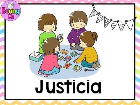 imagenes del valor justicia para colorear tarjetas valores 10 imagenes educativas