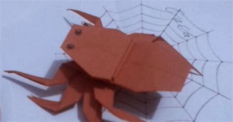 cara membuat origami laba laba cara membuat origami berbentuk laba2 spider caca imut