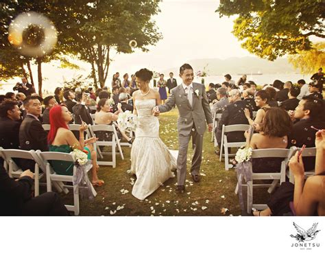 Wedding Aisle Bubbles by Brock House Outdoor Wedding Aisle Recessional With Bubbles