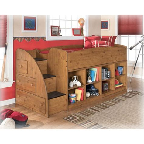 Stages Loft Bed by B233 68t Furniture Stages Light Brown Loft Bed