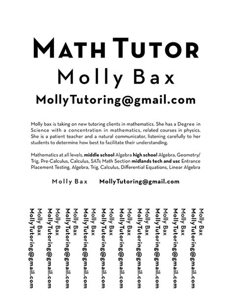math tutoring flyer template tutoring flyer on behance