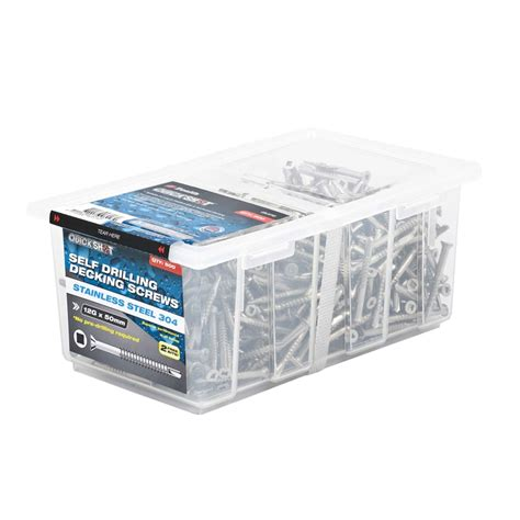 Box Quik 1 bunnings zenith zenith 12g x 50mm stainless steel decking screws 500 box compare club