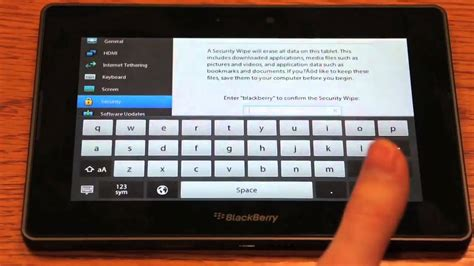 reset blackberry factory how to factory reset the blackberry playbook youtube