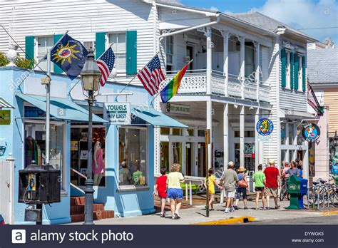 tattoo shops key west shops on duval key west florida usa stock photo