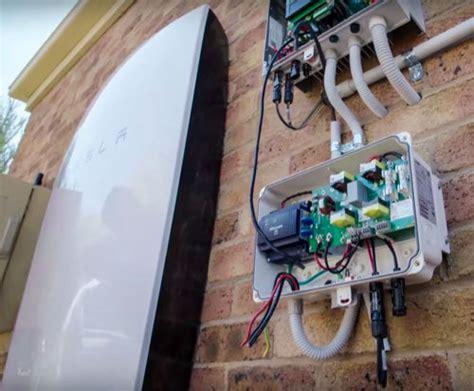 diy tesla powerwall video first tesla powerwall system installation on tv