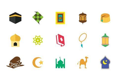 islamic icons vector   vectors clipart