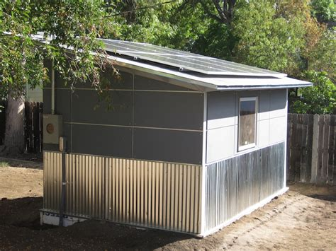 Solar Panel For Shed by Solar Powered Shed For A Colorado Artist