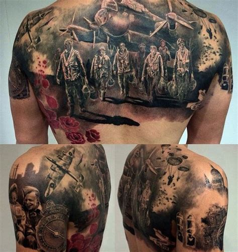 world war 2 back tattoo http tattooideas247 com ww2