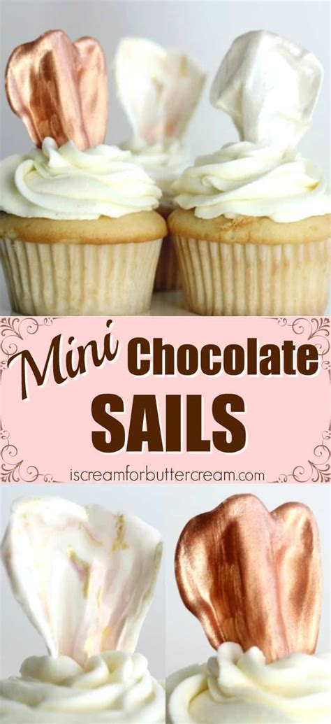 7 Tips For Chocolate by Mini Chocolate Sails I Scream For Buttercream