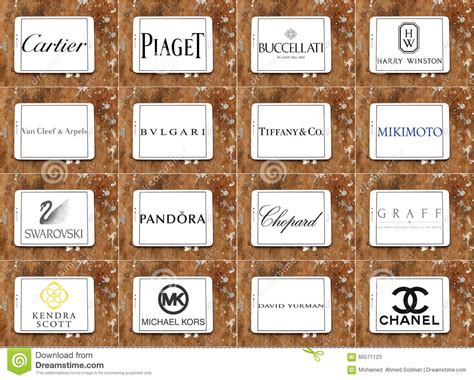 Jewelry Companies by Top Jewelry Companies Logos And Brands Editorial