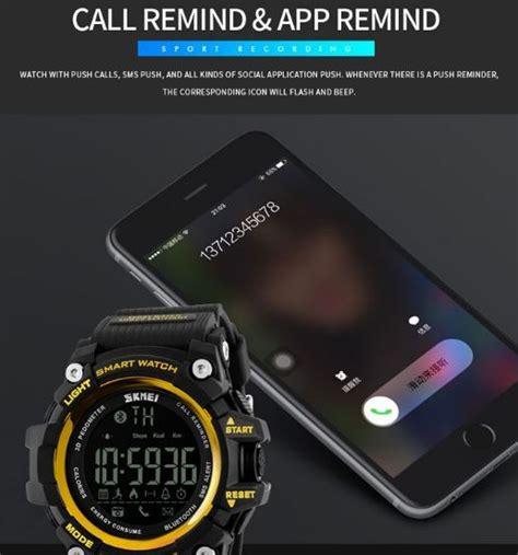 Skmei Jam Tangan Olahraga Smartwatch Bluetooth Dg1226 Bl skmei jam tangan olahraga smartwatch bluetooth dg1227 bl emws6fbk titangadget