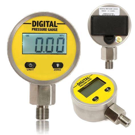 Digital Pressure 3 14 Npt 9v Battery 0 5000 Psi Led neuer digitaler hydraulischer manometer 0 250bar 3600psi npt1 4 quot grundeintrag tosave