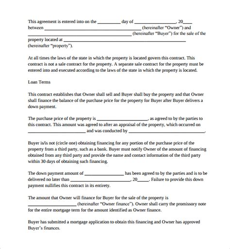 mortgage contract template sle mortgage agreement template 10 free documents in
