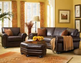 family room leather sofa ideas the monroe leather sofa set in rome burnt orange living