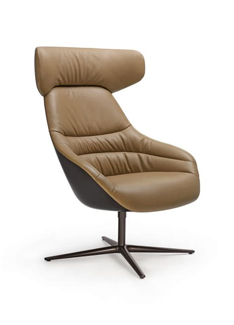 Swivel Leather Armchair Kyo Chair By Pearsonlloyd For Walter Knoll