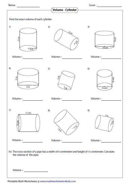 Volume Of A Sphere Worksheet by Volume Worksheets