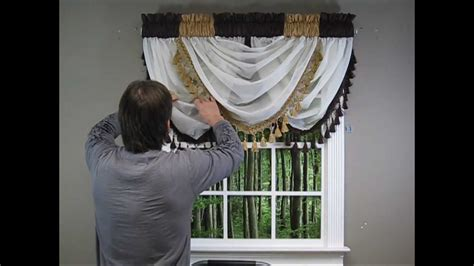 how to do drapes waterfall valance how to hang youtube