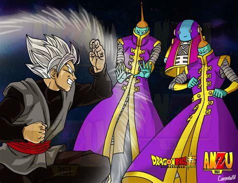 Imagenes De Goku Zeno | goku black vs zeno sama by shinmitsuomi on deviantart